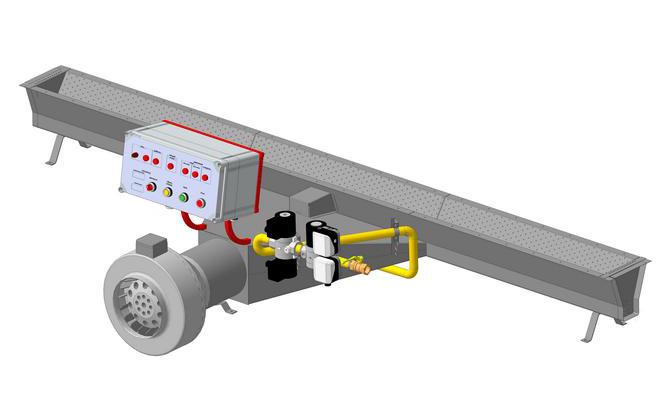 Горелки блочные подовые «Т-образные» с тепловой мощностью 70-140-280 кВт