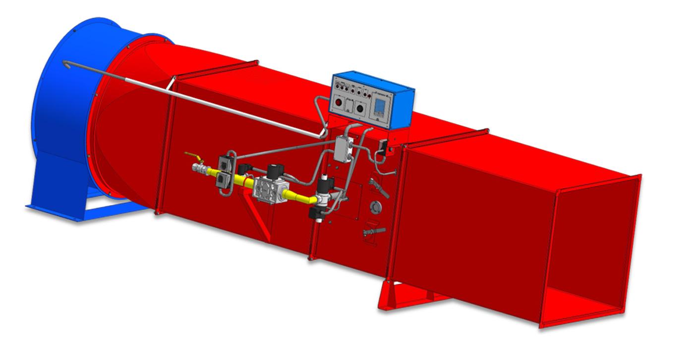 Воздухонагреватель ВГС-200 напольное исполнение