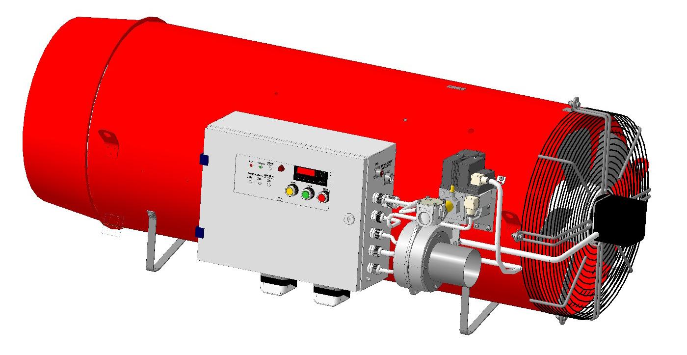 Воздухонагреватель ВГС-200 подвесное исполнение